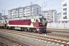 Diesel locomotief Royalty-vrije Stock Foto