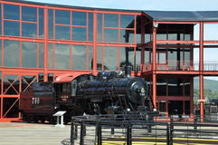 Diesel Locomotief bij de Nationale Historische Plaats van Steamtown in Scranton, Pennsylvania Stock Foto's