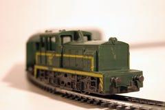 Diesel locomotive 1. Toy train series - diesel locomotive royalty free stock photo