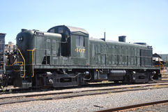 Diesel Locomotive. At Steamtown National Historic Site in Scranton, Pennsylvania Royalty Free Stock Photo