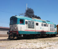 Diesel Locomotive. The FS Class D345 is a class of diesel-electric locomotive used in Italy, introduced in the 1970s and still in service Royalty Free Stock Images