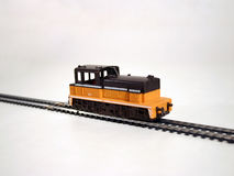 Diesel locomotive 2. Toy train series - diesel locomotive royalty free stock image
