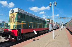 Diesel locomotive CHME2-120 Royalty Free Stock Images