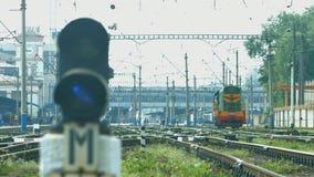 Diesel locomotive. stock video