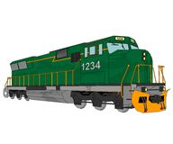 Diesel locomotive illustration Royalty Free Stock Images