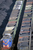Diesel locomotive in port. Royalty Free Stock Photos