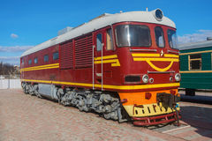 The diesel locomotive Royalty Free Stock Photo