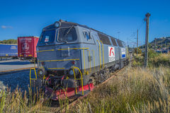 Diesel locomotive tx logistics Royalty Free Stock Photography