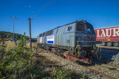 Diesel locomotive tx logistics Royalty Free Stock Photos