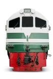 Diesel locomotive on white Royalty Free Stock Photos
