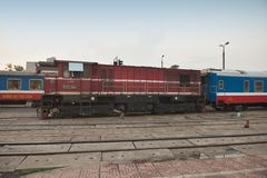 Diesel locomotives in Hanoi Stock Images