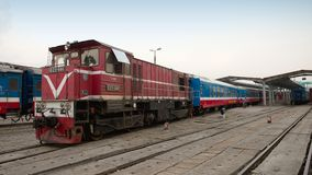 Diesel locomotives in Hanoi Royalty Free Stock Image