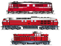 Diesel Locomotives vector Royalty Free Stock Photography