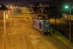 Diesel- lokomotiv Arkivfoto