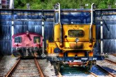 Diesel- lokomotiv Arkivfoton