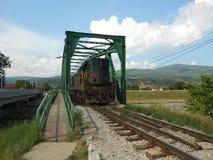 Diesel- lokomotiv Fotografering för Bildbyråer