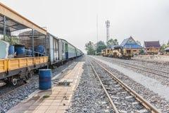 Diesel- lokomotiv, drev i Thailand Royaltyfri Foto