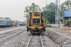 Diesel- lokomotiv, drev i Thailand Arkivbilder