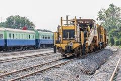 Diesel- lokomotiv, drev i Thailand Royaltyfri Fotografi