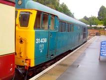 Diesel- lokomotiv för BRtappning på den norr Weald stationen Arkivfoto