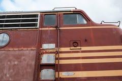 Diesel- lokomotiv för USA som ses på ett museum i New England, USA Fotografering för Bildbyråer