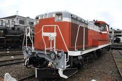 Diesel- lokomotiv i skjulet för Umekoji ångalokomotiv, Kyoto Royaltyfri Foto