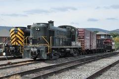 Diesel- lokomotiv på Steamtown den nationella historiska platsen i Scranton, Pennsylvania Royaltyfri Bild