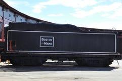 Diesel- lokomotiv på Steamtown den nationella historiska platsen i Scranton, Pennsylvania Arkivbild