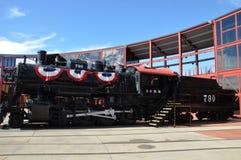 Diesel- lokomotiv på Steamtown den nationella historiska platsen i Scranton, Pennsylvania Arkivbilder