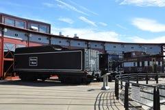 Diesel- lokomotiv på Steamtown den nationella historiska platsen i Scranton, Pennsylvania Royaltyfria Bilder
