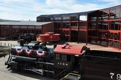 Diesel- lokomotiv på Steamtown den nationella historiska platsen i Scranton, Pennsylvania Royaltyfri Fotografi