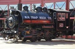 Diesel- lokomotiv på Steamtown den nationella historiska platsen i Scranton, Pennsylvania Royaltyfria Foton