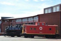 Diesel- lokomotiv på Steamtown den nationella historiska platsen i Scranton, Pennsylvania Royaltyfri Foto