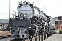 Diesel- lokomotiv på Steamtown den nationella historiska platsen i Scranton, Pennsylvania Arkivfoto
