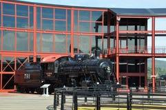 Diesel- lokomotiv på Steamtown den nationella historiska platsen i Scranton, Pennsylvania Arkivfoton