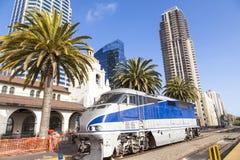 Diesel- lokomotiv; San Diego, Royaltyfria Foton