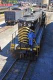 Diesel- lokomotiv, Scranton, PA, USA royaltyfri bild