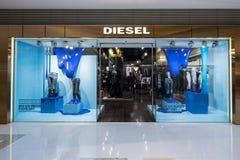 Diesel- modeboutiqueskyltfönster Hong Kong Royaltyfria Foton