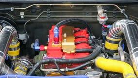 Diesel- motor för springa bil arkivfilmer