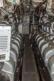 Diesel- motorer för HMS-ozelot arkivbild
