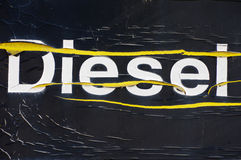 Diesel old inscription Stock Photography