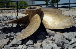 Diesel onderzeese propeller royalty-vrije stock afbeeldingen