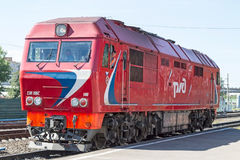 Diesel passenger locomotive Royalty Free Stock Images