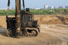 Diesel pile driver Royalty Free Stock Photos