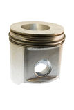 Diesel piston on white Royalty Free Stock Image