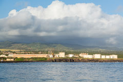 Diesel power generating station Kauai Royalty Free Stock Photos