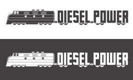 Diesel power logo. Diesel powered locomotive vecor illustration Stock Photo