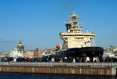 Diesel-powered icebreaker Moscow Stock Photography