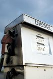 Diesel pump. Old style diesel pump Stock Photos
