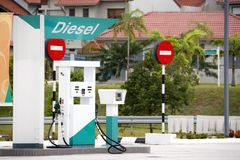 Diesel Pump. Image of a diesel pump at a gas station Royalty Free Stock Photos